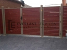 SWG1 – Teatree Post + Frame + Jarrah Slats Double Gate
