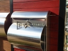 FS1 – Jarrah Slats with Stainless Steel Mailbox