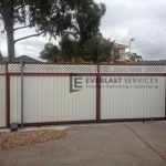 SG15 - Colourbond + Lattice Sliding Gate - Keilor Park