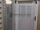 SS16 – Pearl White Slats Single Gate – Yarraville