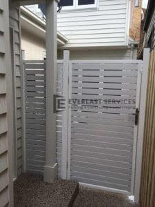 SS16 - Pearl White Slats Single Gate - Yarraville