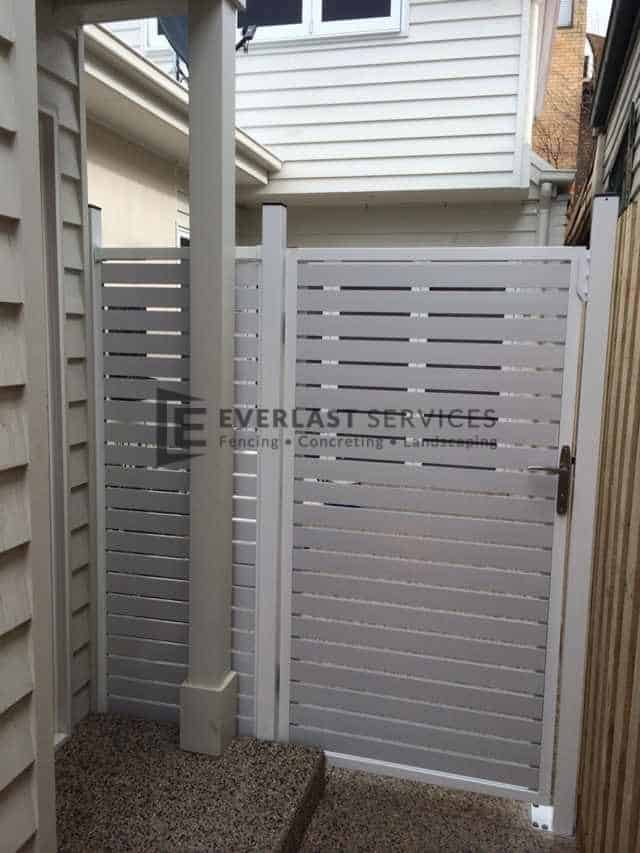 SS16 - Pearl White Slats Single Gate - Yarraville
