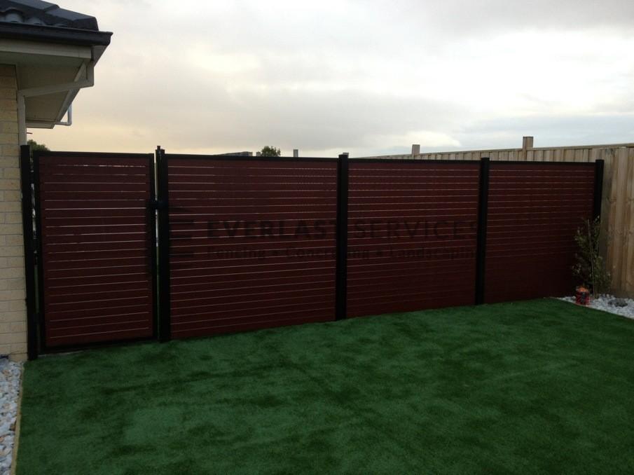 SS19 - Black Post + Frame with Jarrah Slats - Wyndham Vale