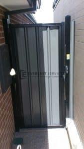 SS2 - Black Frame with Grey Colourbond Single Gate
