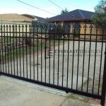 AD3 - Black Level Spear Steel Sliding Gate