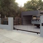 SG21 - Black Level Spear Steel Sliding Gate - Melbourne
