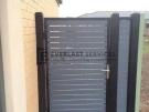 SS21 – Black Post + Frame with Woodland Grey Slats Single Gate
