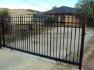 SG22 – Black Level Oxley Spear Steel Sliding Gate – Melbourne