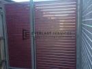 SS22 – Woodland Grey Post + Frame with Jarrah Slats Single Gate