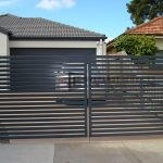 DG12 - Horizontal Bluestone Slats Double Gate - Werribee