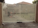 DG13 – Diagonal Steel Slats Double Gate – Werribee