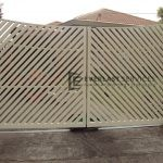 DG13 - Diagonal Steel Slats Double Gate - Werribee