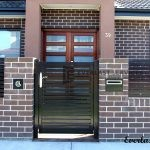 SS27 - Black Horizontal Slats Single Gate