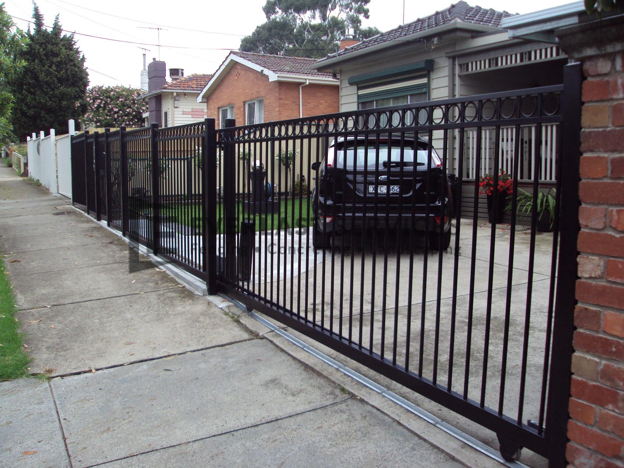 Driveway gates melbourne aluminium wrought iron gate