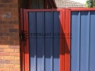 SS3 – Manor Red Frame with Bluestone Colourbond Single Gate