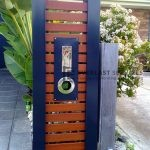 FS3 - Style Aluminium wood look slats mailbox