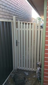3 - White Steel Side Gate
