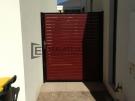 SS33 – Black Post + Frame with Jarrah Slats Single Gate – Altona Meadows