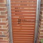 DW35 - Horizontal Steel Slats Single Gate