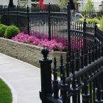 SF34 - Black Wraught Iron Fence Panels - Melbourne