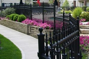 34 - Black Wraught Iron Fence Panels - Melbourne