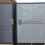 SS39 - Aluminium Slats Single Gate with panel - Laverton