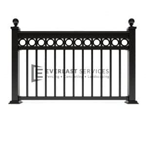 SF36 - Ball Cap Wraught Iron Level Ring Fence Panels