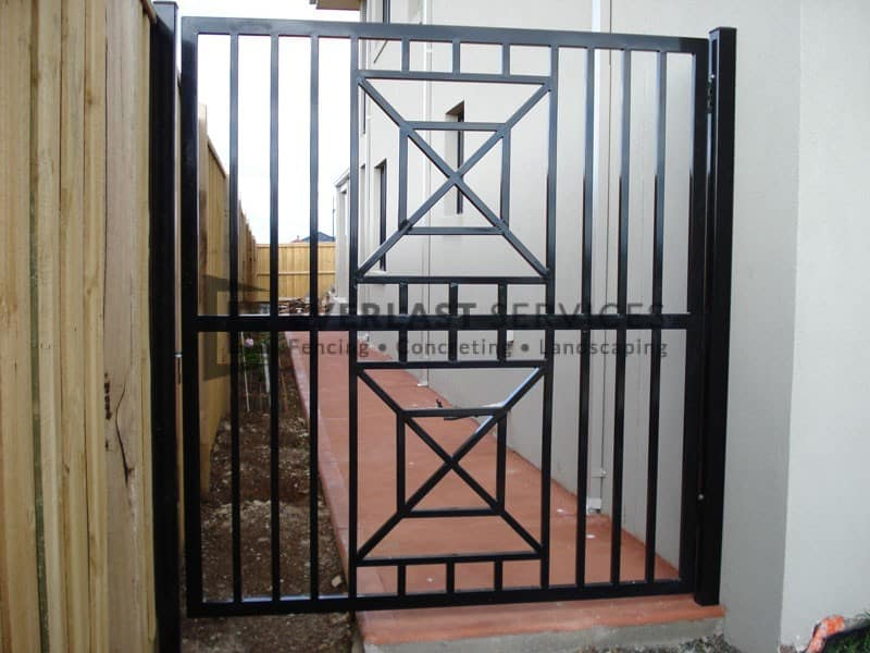 SS42 - Square Custom Pattern Tubular Single Gate