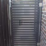 SS43 - Black Horizontal Steel Slats Gate