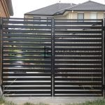 DG30 - Black Horizontal Steel Slats Double Gate