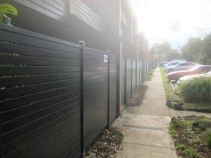 A188 - 516 Moreland Road Horizontal Aluminium Slats Fence