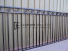 SF57 – Black Top Scroll Steel Fencing Panel