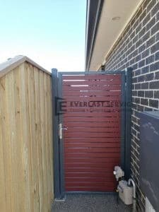 SS100 - 75 x 16 Jarrah Slats Single Gate
