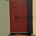 SS8 - Woodland Grey Post + Frame with Jarrah Slats Single Gate