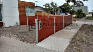 A86 - Western Red Cedar Slats Dividing Fence View 3