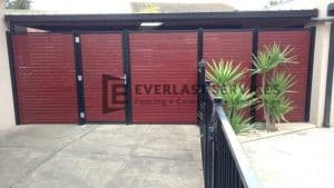 A94 - Aluminium Fencing - Single Gate with Fencing