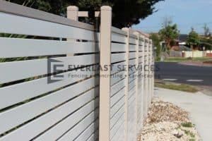 A68 - Horizontal Aluminium Slats Sliding Gate - Seaholme View 2