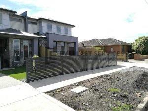 A104 - Horizontal Ironestone Aluminum Slats Fencing