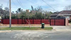A98 - Jarrah Aluminium Slats with Double Gate