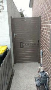SS76 - Jasper Aluminium Slats Single Gate