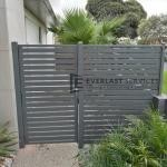 SS103 - Aluminium Slats Single Gate + Panel