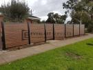 A183 – Aluminium Kawila Slats Fencing with Single Gate