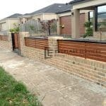 A81 - Slat Fence with Brick