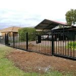 SF153 - Black Boundary Steel Fence