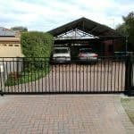 SG66 - Black Motorised Steel Sliding Gate