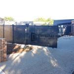 SG74 - Black Slats Driveway Sliding Gate