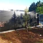A225 - Black Slats Fencing Aluminium