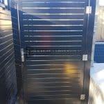 SS126 - Black Slats Single Gate