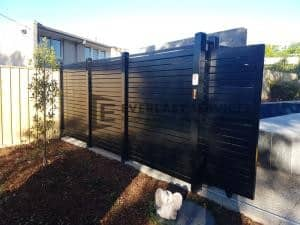 SG75 - Black Slats Sliding Gate