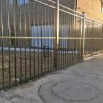 SF148 - Black Steel Oxley Ring Fence